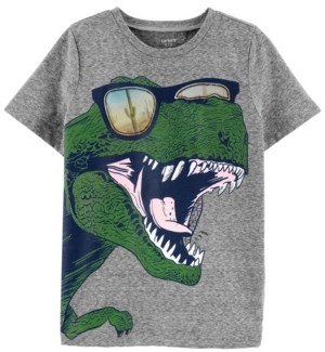 Carter's Little Boys Dinosaur Action Graphic Snow Yarn Tee
