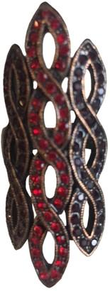 Fiorucci Burgundy Metal Rings