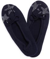 A & R Cashmere Cashmere & Wool Blend Ballet Flat Slippers