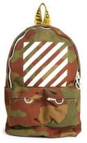 Off-White Diagonal Camouflage Backpack
