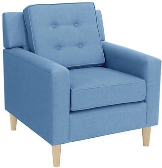 One Kings Lane Winston Club Chair - French Blue Linen