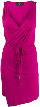DSQUARED2 belted waist wrap dress