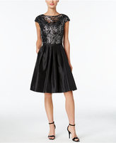 Calvin Klein Sequined Fit & Flare Cocktail Dress
