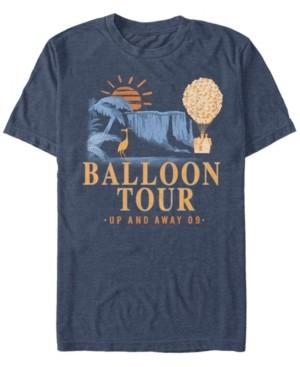 Disney Pixar Men's Up Balloon Tour, Short Sleeve T-Shirt
