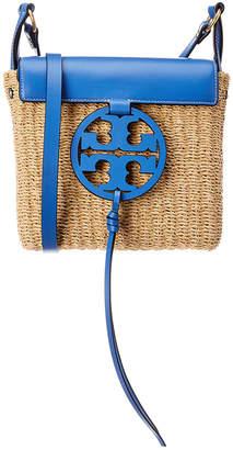 Tory Burch Miller Straw & Leather Crossbody
