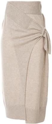 CHRISTOPHER ESBER Draped Wrap Midi Skirt