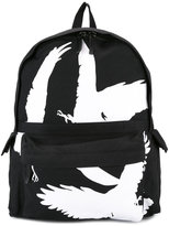 Ann Demeulemeester bird print backpack - men - Cotton - One Size