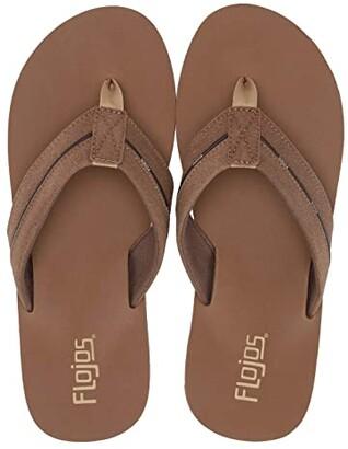 Flojos Kona (Brown/Tan) Men's Toe Open Shoes