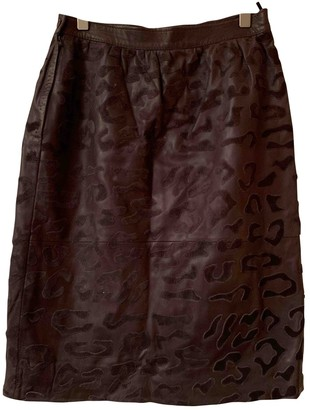 Valentino Grey Leather Skirt for Women Vintage