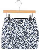 Little Marc Jacobs Girls Leopard-Patterned Skirt
