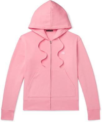 Acne Studios Ferris Logo-Appliqued Fleece-Back Cotton-Jersey Hoodie
