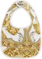 Versace Baroque Print Bib, Gold, One Size