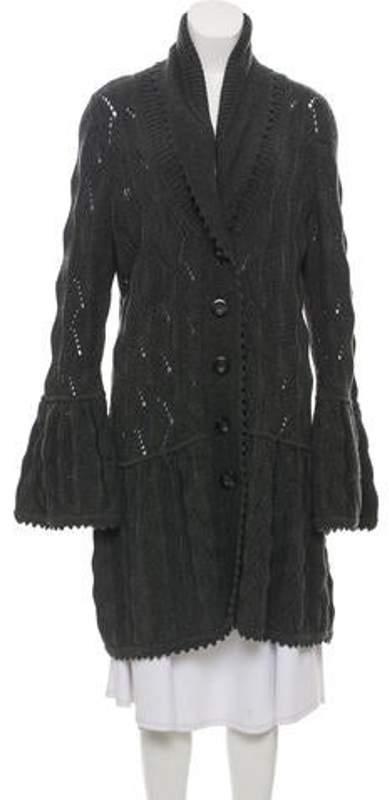 Diane von Furstenberg Joelle Wool Cardigan Grey Joelle Wool Cardigan