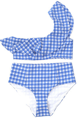 Ganni Check Two-Piece Swimsuit