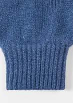 Paul Smith Men's Blue Cashmere-Blend Gloves