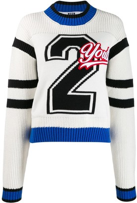 MSGM Youth patch jumper