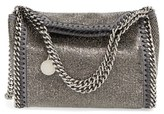 Stella McCartney 'Mini Falabella - Dot' Crystal Embellished Crossbody Bag - Grey