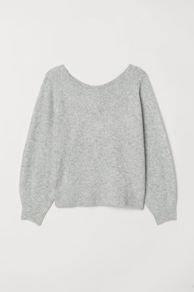 H&M H&M+ Off-the-shoulder Sweater - Gray