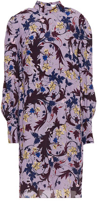 Erdem Mirela Gathered Floral-print Crepe Dress