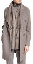 Loro Piana Barret Double-Breasted Cashmere Coat, Silver Myrtle Melange