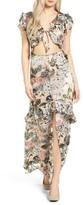 For Love & Lemons Women's Luciana Silk Maxi Dress