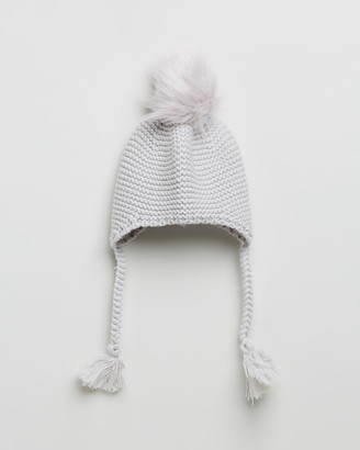 Morgan & Taylor Girl's Grey Beanies - Sierra Mini Beanie - Kids - Size One Size at The Iconic