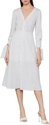 BCBGMAXAZRIA Cotton Stripe Shirt Dress