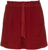 Chloé Wide-leg crepe track shorts