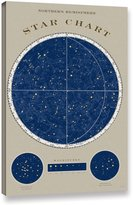 Art Wall ArtWall 2sch030a3248w Sue Schlabach's Northern Star Chart, Gallery Wrapped Canvas