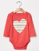 Gap Stripe heart bodysuit
