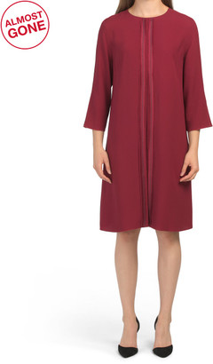 Made In Italy Pleat Front Dress