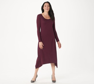 G.I.L.I. Got It Love It G.I.L.I. Peached Knit Long Sleeve Scoop Neck Maxi Dress