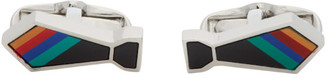 Paul Smith Silver and Multicolor Tie Cufflinks