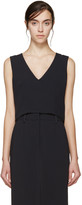 Maiyet Navy Cropped Shell Top