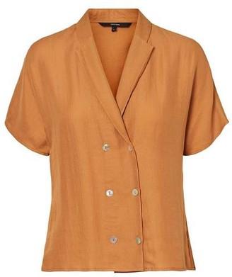 Vero Moda Anya Short Sleeve Shirt Meerkat - M