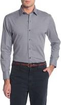 Zachary Prell Micro Check Plaid Print Regular Fit Shirt