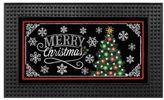 Light-Up 18-Inch x 30-Inch LED Christmas Chalkboard Door Mat