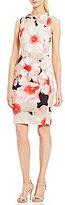 Calvin Klein Floral Printed Scuba Sheath Dress