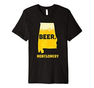 State AL Alabama Drinking Home Love Beer Montgomery City Premium T-Shirt