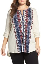 Lucky Brand Plus Size Women's Graphic Print Top