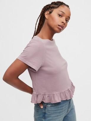 Gap Vintage Ruffle Sleeve T-Shirt