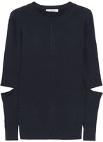 Adeam - Cutout Ribbed-knit Sweater - Midnight blue