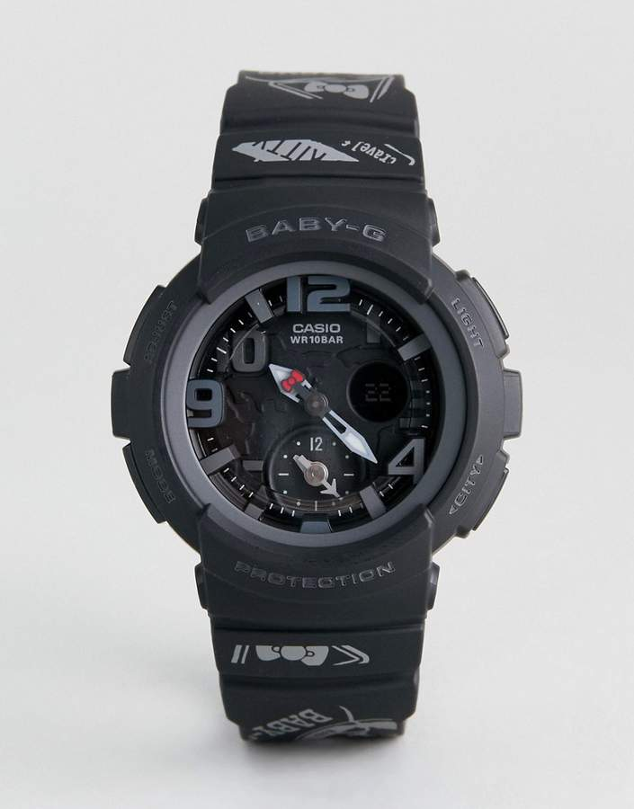 Casio Baby-G By X Hello Kitty Silicone Digital Watch In Black