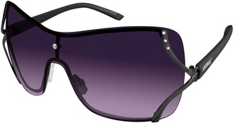 Southpole Women's 454SP Rimless Rhinestone Shield Sunglasses with 100% UV Protection 60 mm