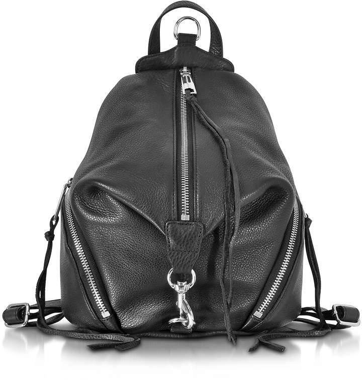 Rebecca Minkoff Julian Black Leather Medium Backpack