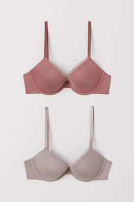 H&M 2-pack microfibre push-up bras