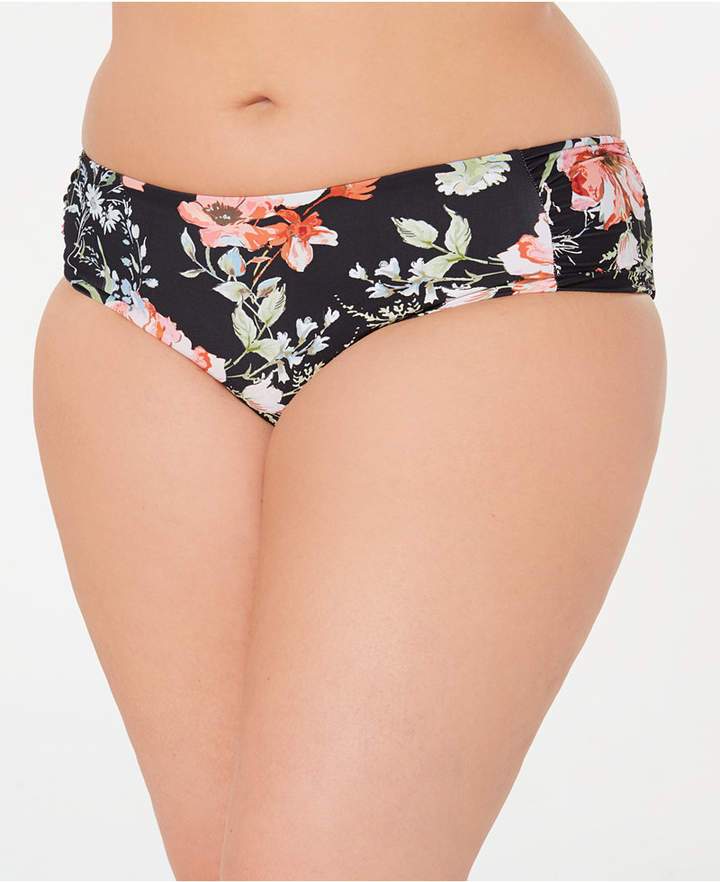 Becca Etc Plus Size French Valley Hipster Bikini Bottoms Women Swimsuit