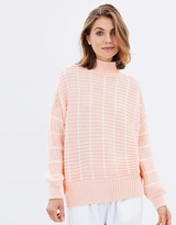 Miss Selfridge Stripe Chunky Funnel Neck