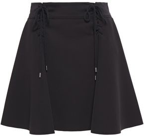 Carven Lace-up Scuba Mini Skirt