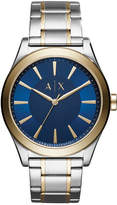 Armani Exchange Men's Nico Two-Tone Stainless Steel Bracelet Watch 44mm
